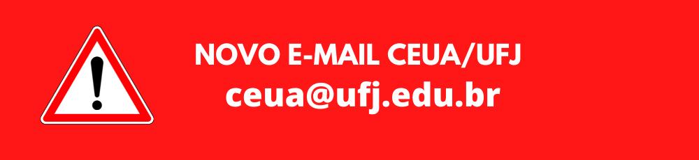 Novo email CEUA