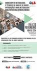 Banner Workshop de Metodologia e Técnicas de Análise de Dados