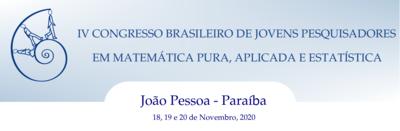 IV Congresso Brasileiro de Jovens Pesquisadores em Matemática Pura, Aplicada e Estatística (IV CBJME)
