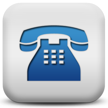 Phone blue quadrado_ICON