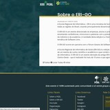 Screenshot do novo site do FGSL